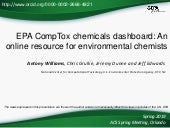 EPA CompTox chemicals dashboard: An online resource for environmental chemists