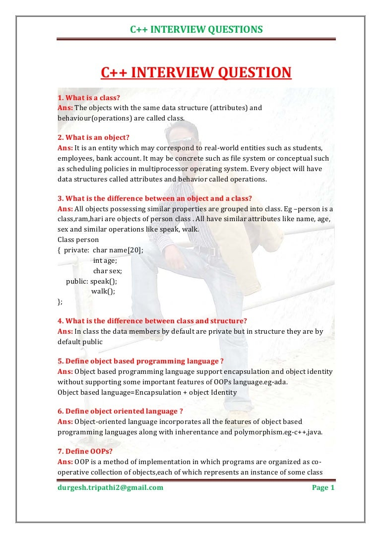 Oops Interview Questions Answers Pdf