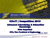 Advertising & Subscriber Knowledge Brian Cappellani CTO