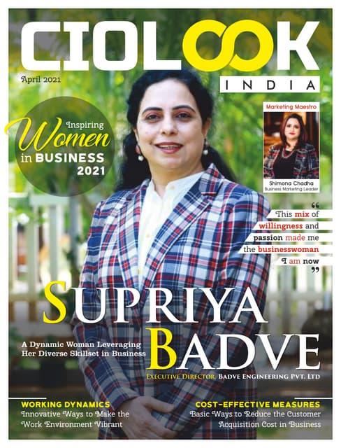 Inspiring women in Business, April 2021.