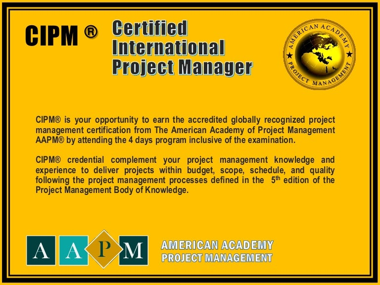 Certified International Project Manager Certification Program