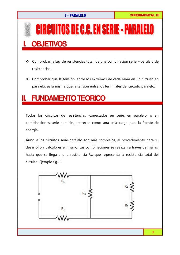 Circuito Seri E Paralelo : Circuitos de cc en serie paralelo