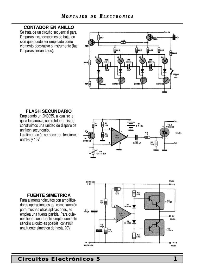 Circuito Sencillo : Circuitos electronicos 5