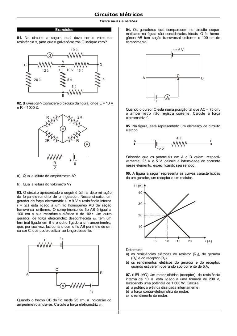 Circuito Eletrico : Circuitos eletricos