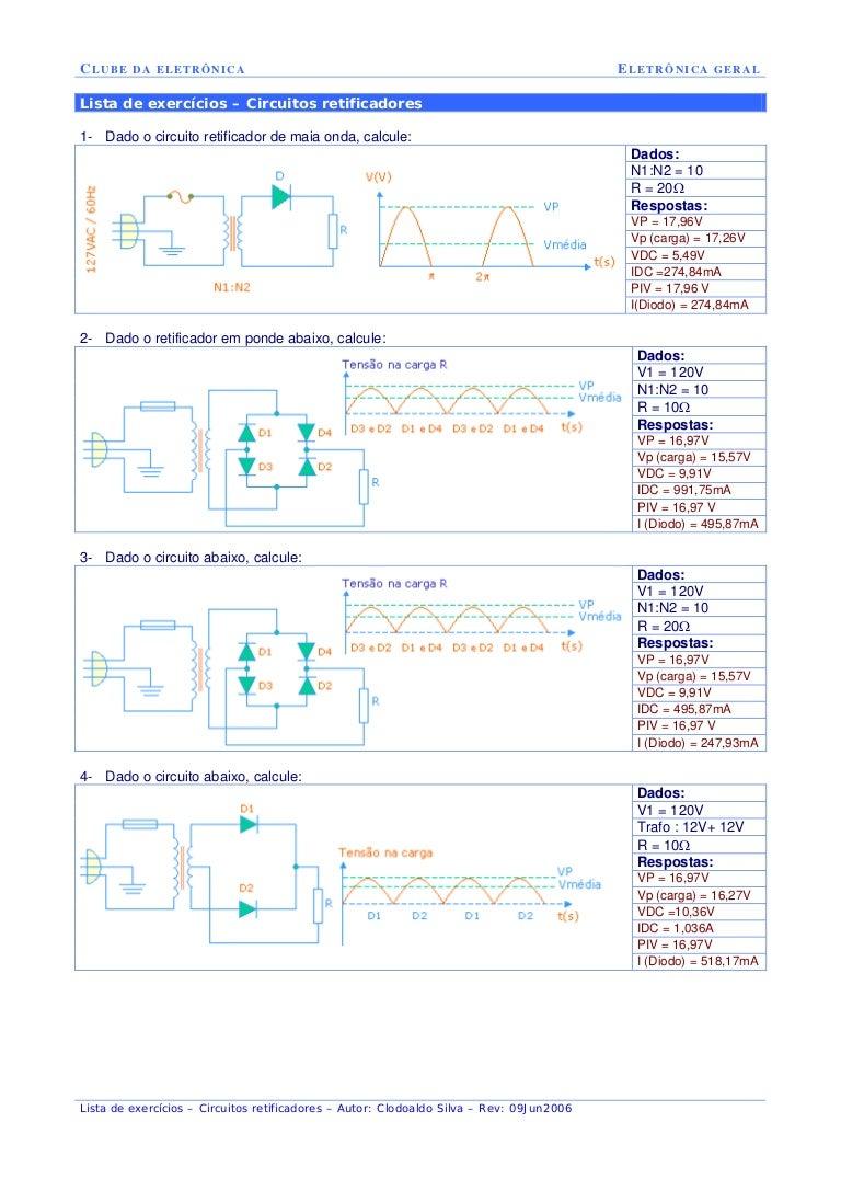 Circuito Retificador : Circuitos retificadores