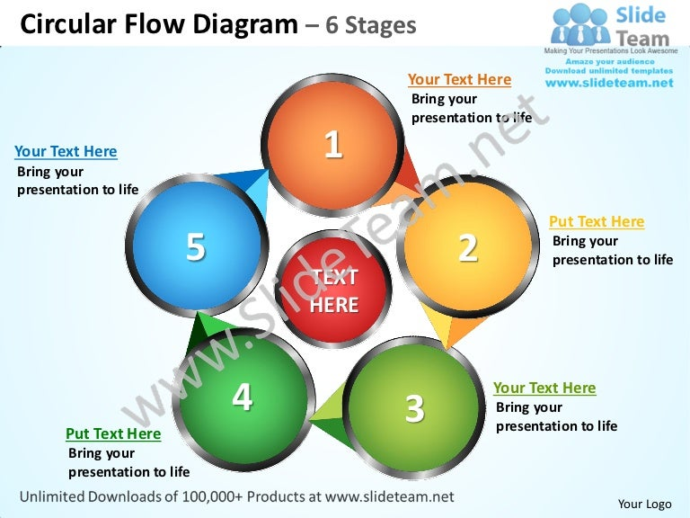 Circular flow diagram 6 stages powerpoint templates 0712 ccuart Choice Image