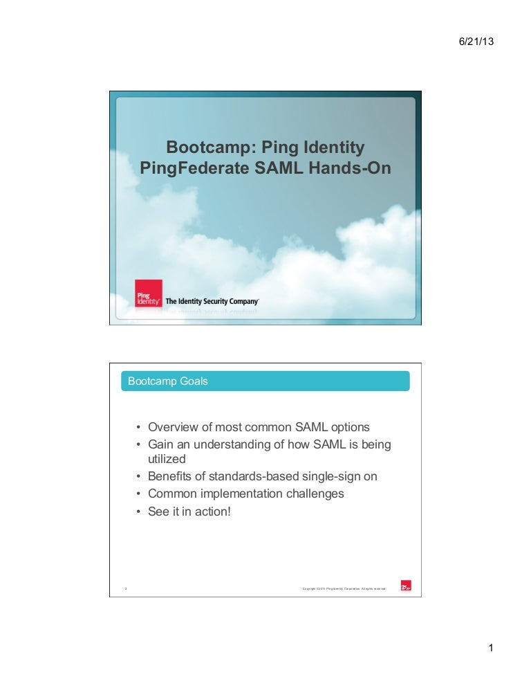 CIS13: Bootcamp: Ping Identity SAML in Action with
