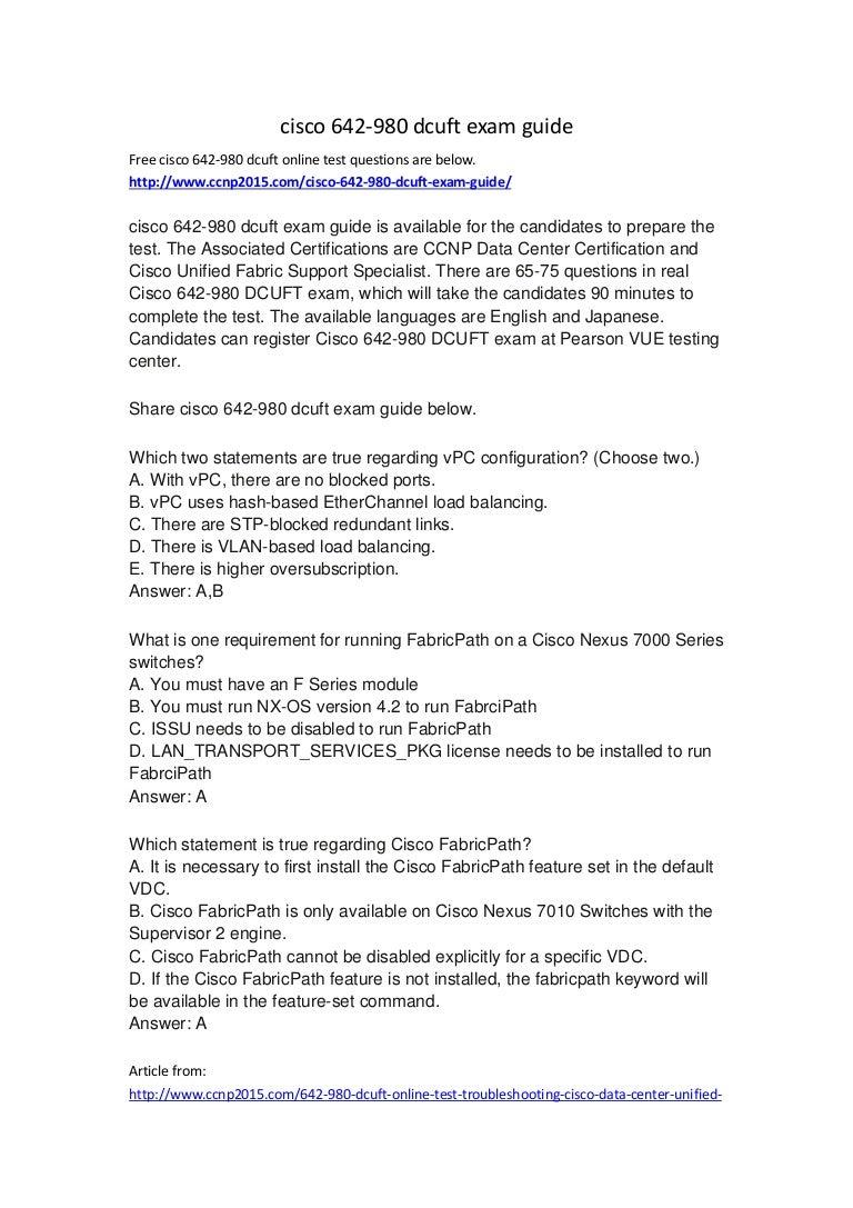 Cisco 642 980 dcuft exam guide xflitez Gallery