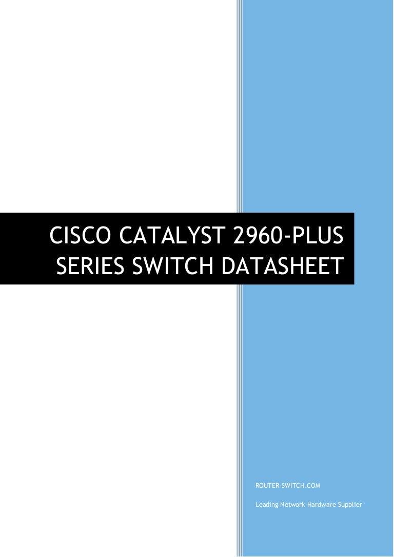 Cisco catalyst 2960-s and 2960 series switches datasheet | cisco.