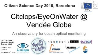 Citclops/EyeOnWater @ Barcelona - Citizen science day 2016