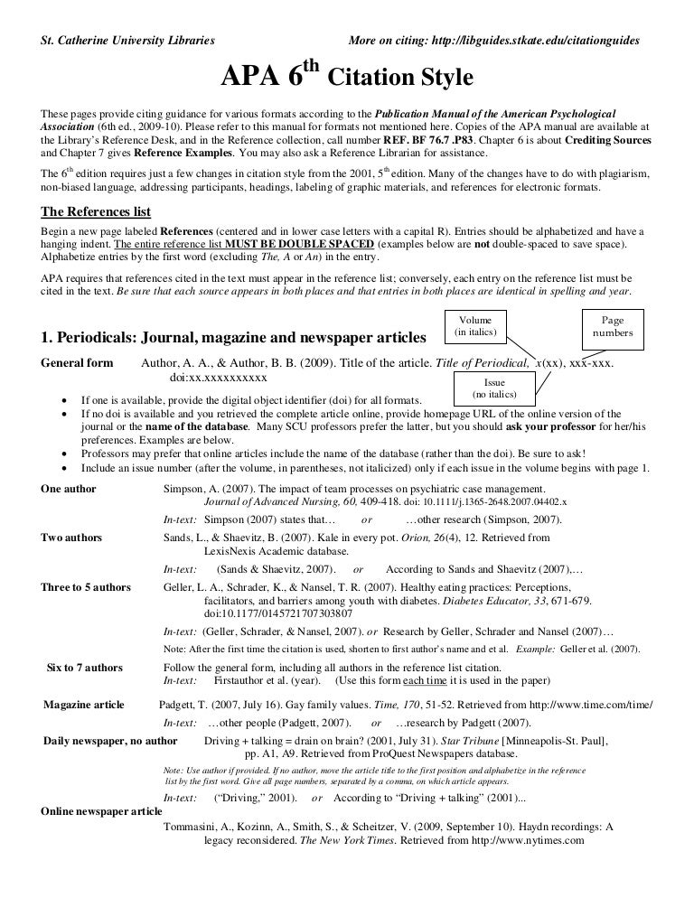 Sample Reference List For Research Paper InText Citation In Main