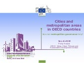 Cities and metropolitan areas in OECD countries