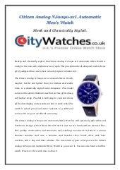 Citizen analog nj0090 21l automatic mens watch