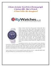 Citizen aviator eco drive chronograph ca0690-88 l mens watch