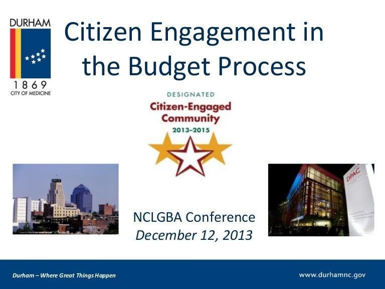 Citizen Engagement Presentation City Of Durham