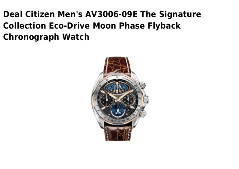 Citizen mens av3006 09 e the signature collection eco