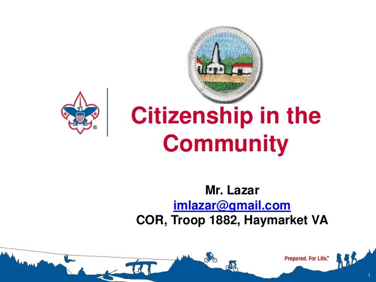 Citizenship in the Community Merit Badge Class Instructor Presentation – Citizenship in the World Worksheet Answers