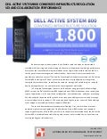 Dell Active System 800 converged infrastructure solution: VDI and collaboration performance