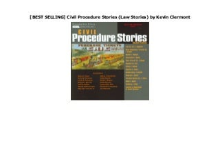 [BEST SELLING] Civil Procedure Stories (Law Stories) by Kevin Clermont
