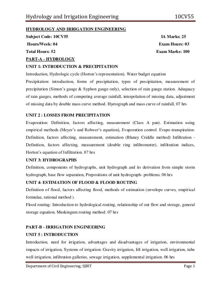 engineering hydrology k subramanya pdf download