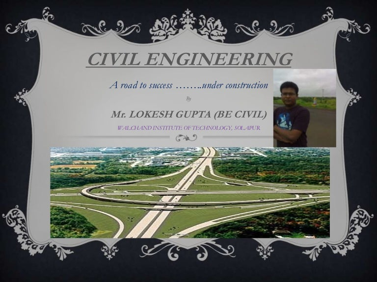 Civil engineering presentation template for powerpoint and keynote.