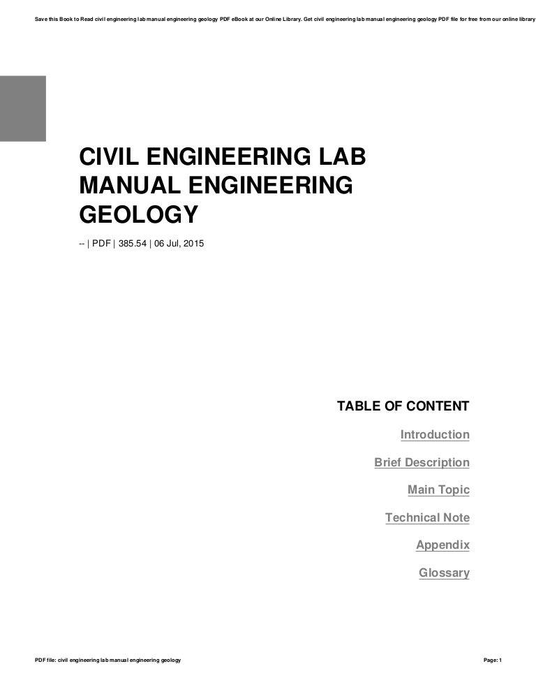 Engineering Geology Book Pdf