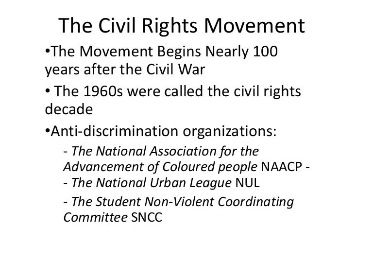 a look at the rise and impact of the civil rights movement in the us The civil rights movement comprised efforts of grassroots activists and national leaders to obtain for african americans the basic rights guaranteed to american citizens in the constitution.