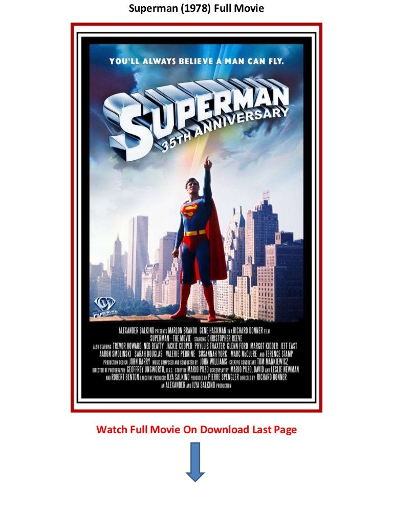 Superman 1978 Download Movies Trailers Online Free Www Thousand