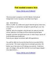 CJA 314 Individual Assignment Crime Data Comparison Paper