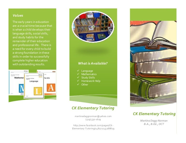 Ck Elementary Tutoring Brochure