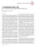 Chairman and CEO: The Controversy over Board Leadership Structure