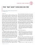 "The ""Buy Side"" View on CEO Pay"