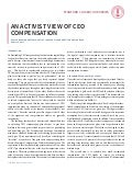 An Activist View of CEO Compensation - CGRP65