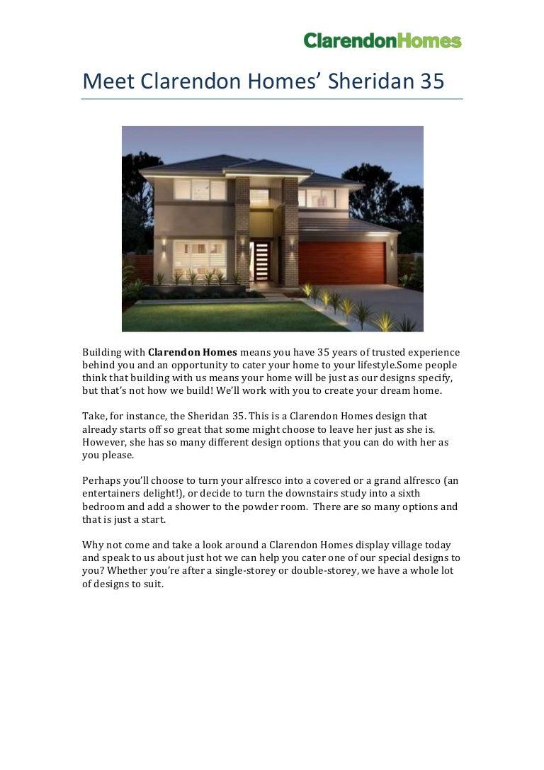 Clarendon Homes - Sheridan 35