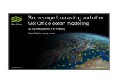 Marine data and observations for storm surge forecasting and other Met Office ocean modelling