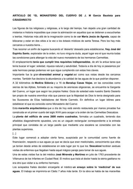 Clase 1. monasterio del cuervo