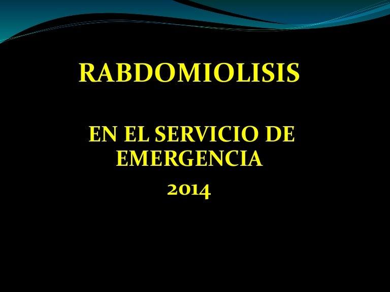 Clase De Rabdomiolisis 2014