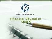 Class X ppt based on Financial Education workbook