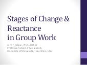 Stages of Change & Reactance in Group Work