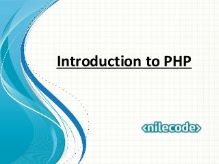 Class 2 - Introduction to PHP