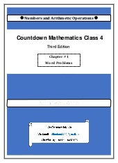 Countdown Class 4 Third Edition Chapter # 1 Solution Word Problems