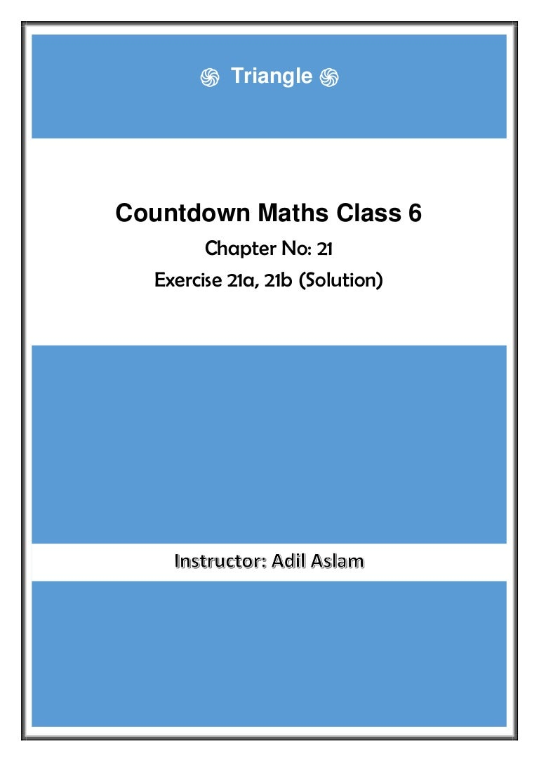 Countdown Class 6th Mathematics Chapter 21 Solution