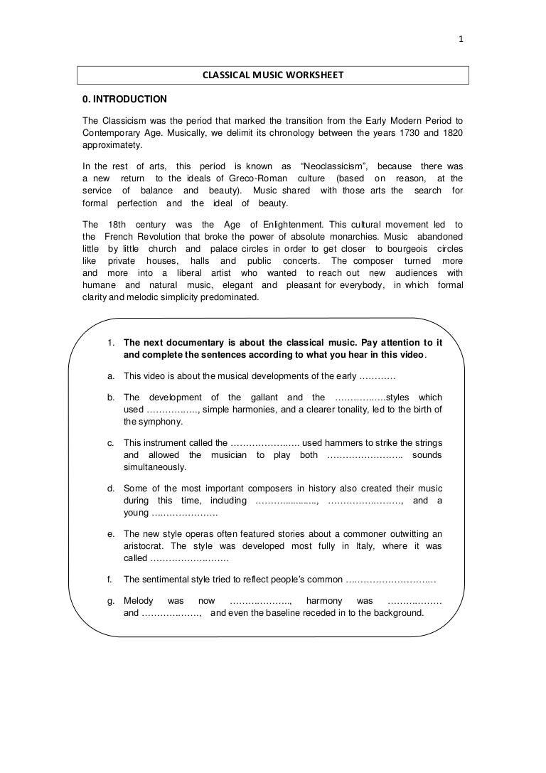 Classical Music Worksheet Did You Know Worksheets Classicalmusicworksheet 180305102825 Thumbnail 4 Jpg?cb\u003d1520245789
