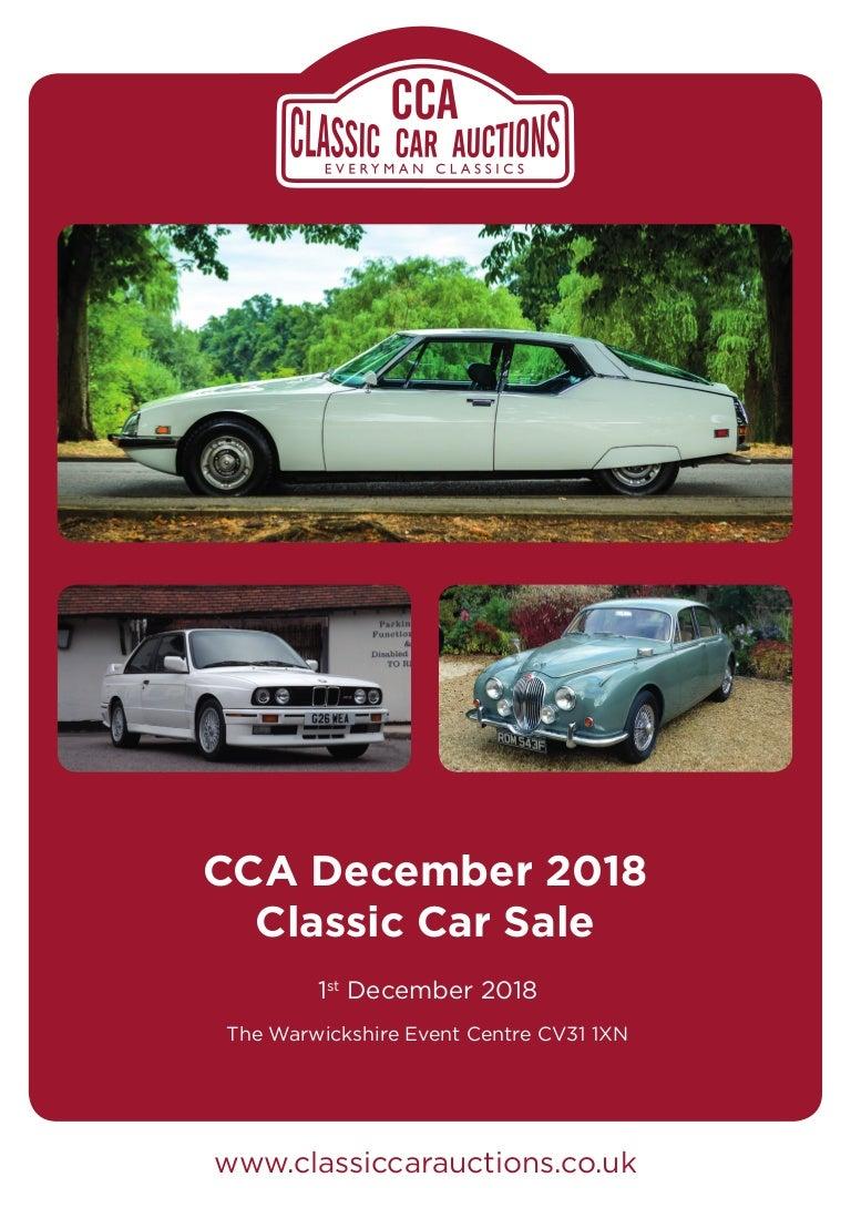 CCA Classic Car Auctions Classic Car Sale 1st December 2018