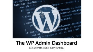 WordPress Classic Dashboard