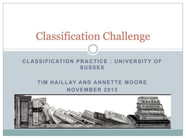 Classification challenge part I