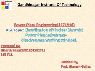 Classification of nuclear power plant 2171910 , power plant engineering.