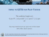 Classroom Pilot-Testing for GETSI NON-Authors Presentation