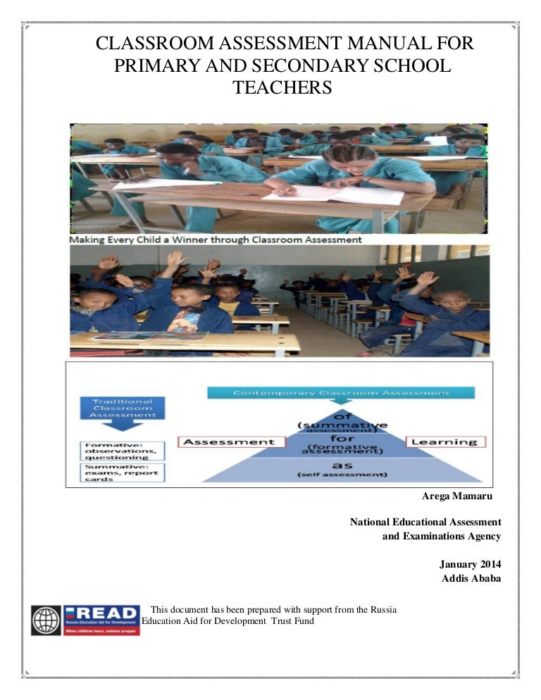 Classroom assessment manual