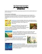 Classroom favorites for independent reading